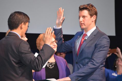 State Senator Henry Stern sworn in at Agoura