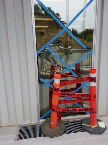 Teacher window mysteriously broken