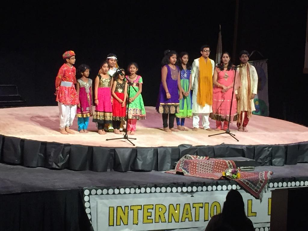 Students of all ages perform a traditional Indian song together (Carly Albert/Talon).