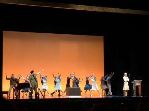 "Drama department honored, performs number from ""Evita"" at Pantages Theater"