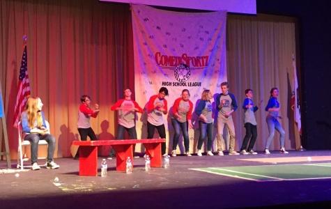 ComedySportz members perform in skits at the Newbie Game Jan. 22 (Akshita Dondeti/ Talon).