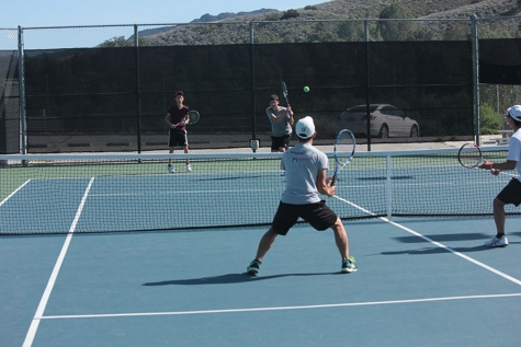 Boys' tennis team places first in league
