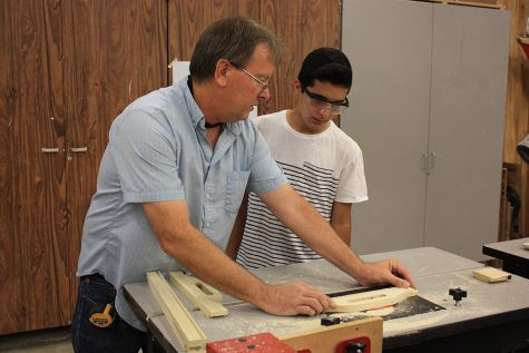 Allen Prescott, woodshop instructor