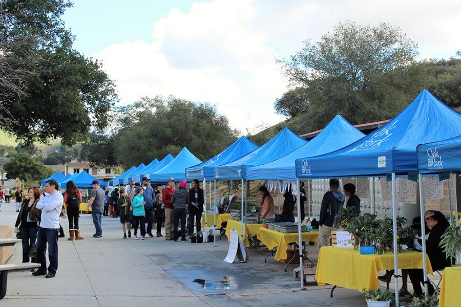 Booths+spread+across+campus+for+the+sixth+annual+Super+Saturday+Sustainability+Fair+Saturday%2C+Feb.+4.+The+event+consisted+of+a+recycling+drive%2C+kids+activities%2C+environmental+based+companies+and+interactive+booths+%28Meghana+Mudunuri%2FTalon%29.