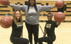 Girls' basketball coaches: Doris Park, Cassandra Harris, Mhiah Vickers