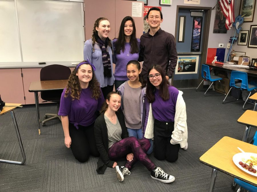 Members+of+Key+Club+wear+purple+to+remember+Gabriella+Chabot.