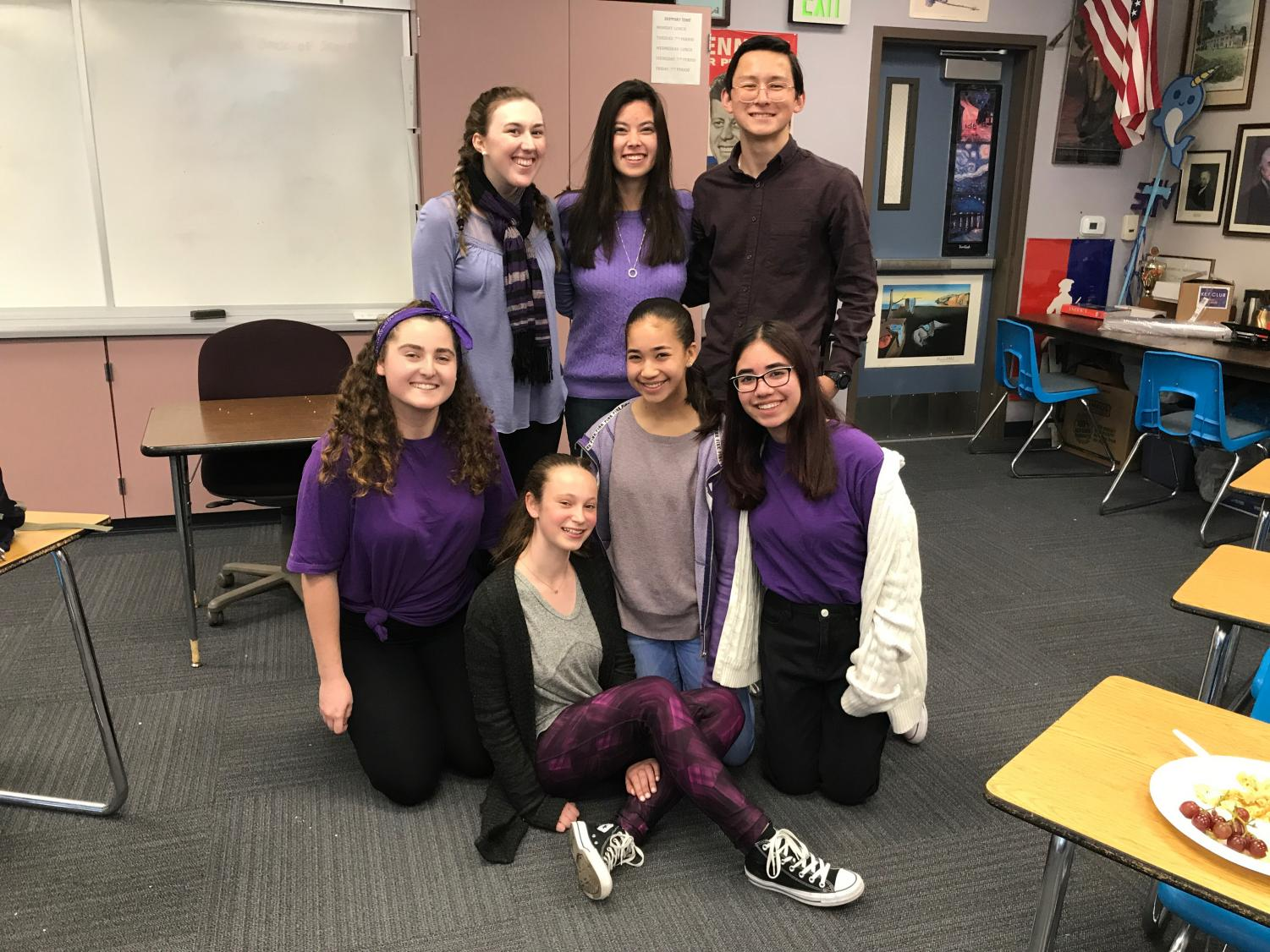 Members of Key Club wear purple to remember Gabriella Chabot.