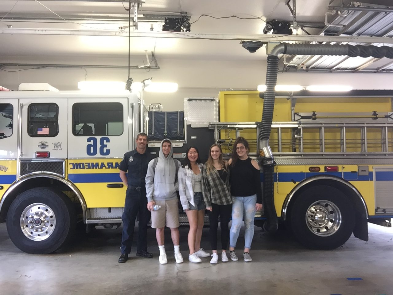 Students at the Ventura County Fire House.