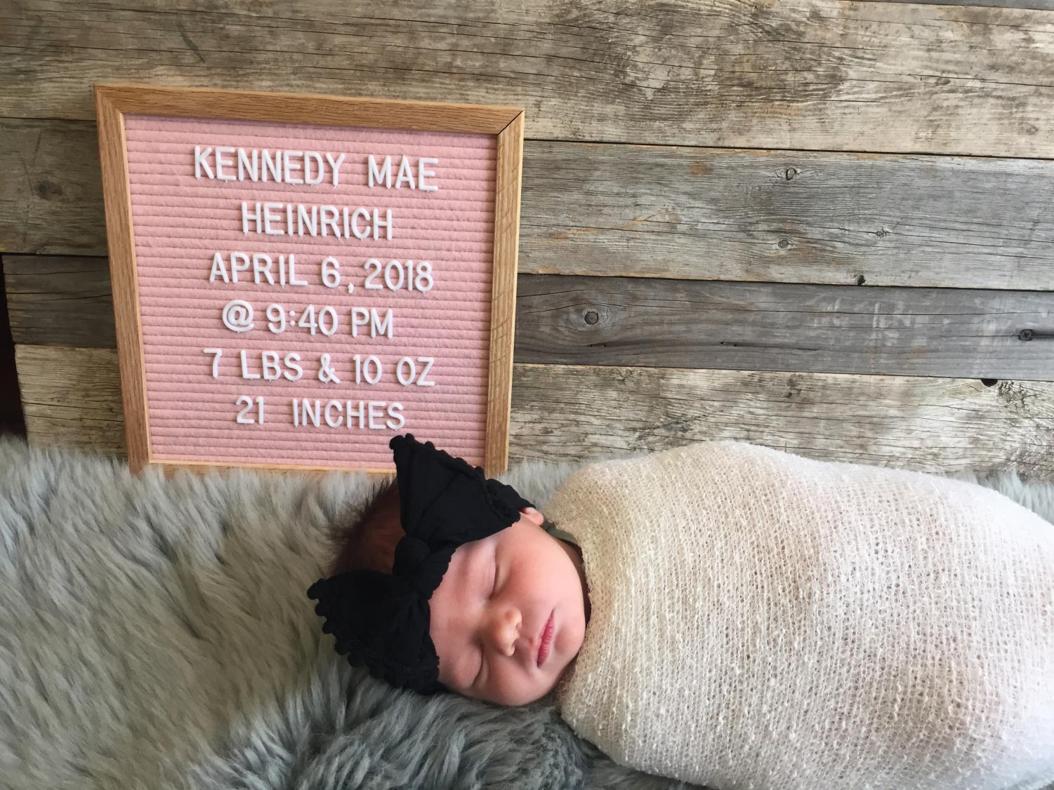 Mrs. Heinrich's daughter, Kennedy Mae Henrich