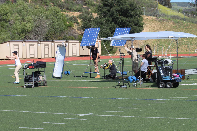Wilson films on campus, donates equipment