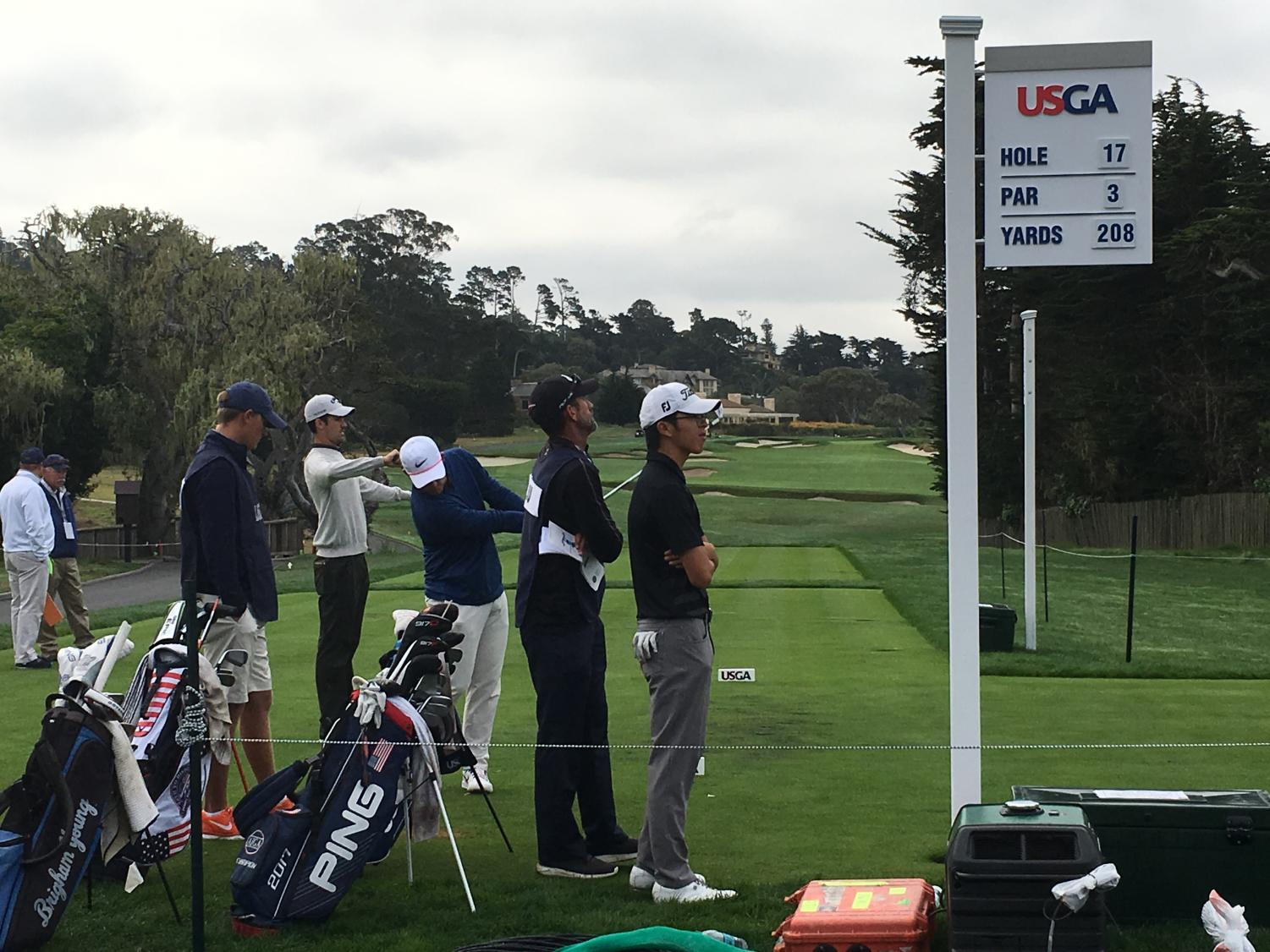 Austin Liu at the Pebble Beach Tournament