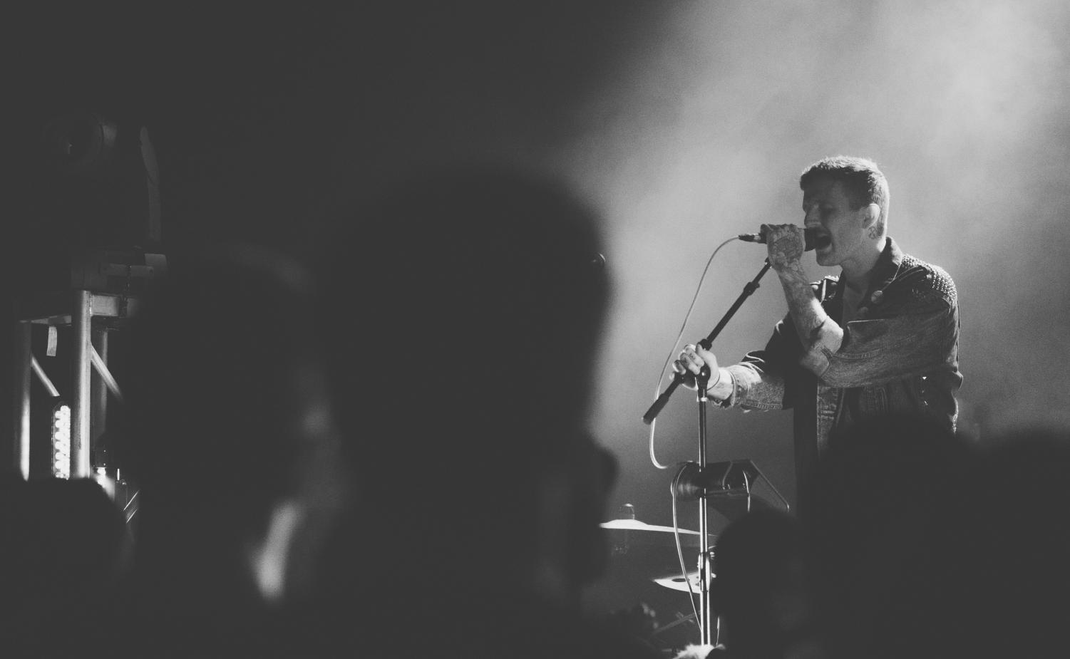 Oliver the Kid, Bryan Sammis's stage name, performs at the Constellation Room in Santa Ana