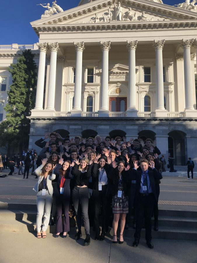 Triunfo+Delegation+consists+of+students+from+Oak+Park+High+School%2C+Agoura+High+School+and+Calabasas+High+School.+Delegation+visited+state+capital+in+February.