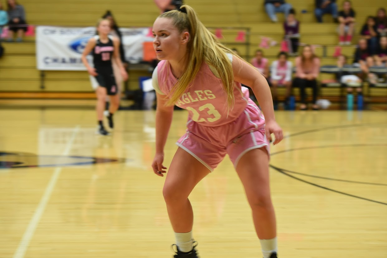 Lynsay Garrett has played basketball since she was 6 years old, and was a captain of the 2018-19 varsity girls' basketball team.
