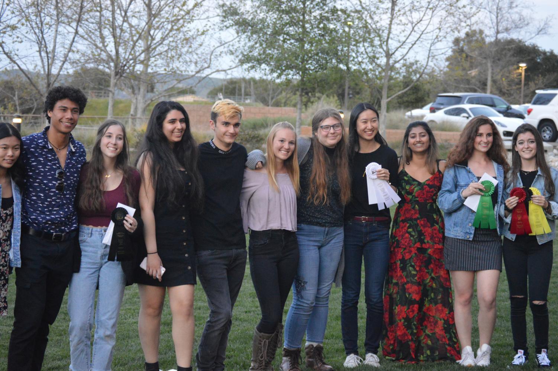 Top from left to right: artists Hannah Sun, Kelly Majam, Maya Swartz, Ruthie Carmeli, Trevor Allen, Solei Burgess, Ruby Ritvo, Reyna Yang, Vaishnavi Ramprasad, Natalie Evoniuk and Arielle Saida.