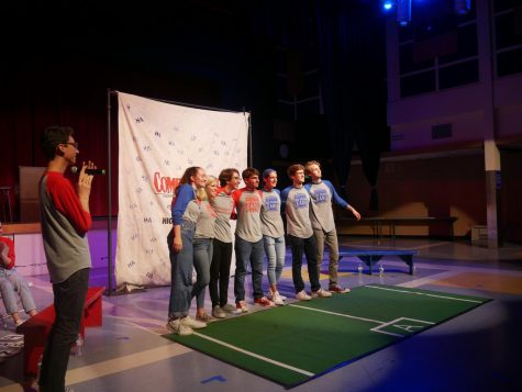 Alumni and seniors play in last Comedysportz game of the season