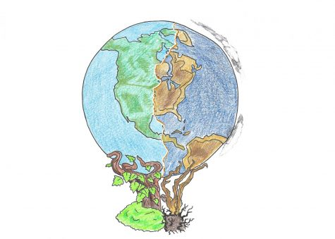 Climate change: permanent effects on the world