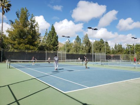 Boys' varsity tennis undefeated in league