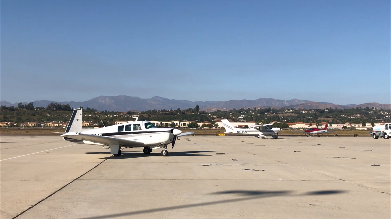 Planes land and take off from the Camarillo Airport,near where two planes crashed recently.