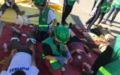 First combined adult and teen CERT drill