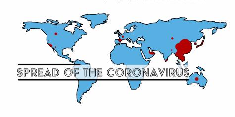 Coronavirus spreads internationally