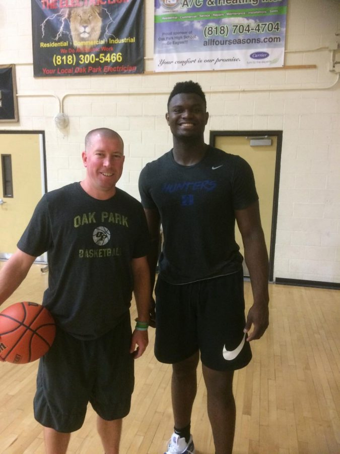 Chevalier+with+Zion+Williamson%2C+New+Orleans+Pelicans+%28NBA%29+during+summer+conditioning.+