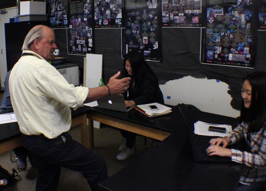 Dr. Ken Jones instructs his students in his final days at Oak Park High.